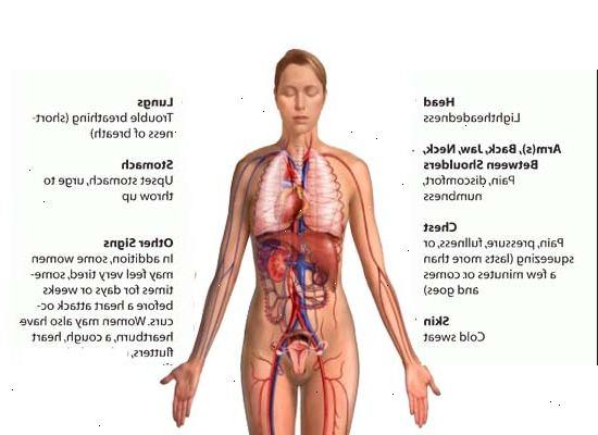 hjerteinfarkt symptomer menn